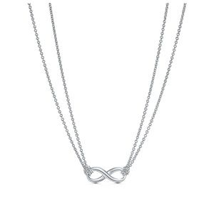 Sterling silver tiffany infinity necklace
